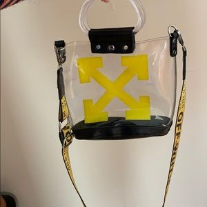 """Off-White Bags - Clear """"off-white"""" purse"""